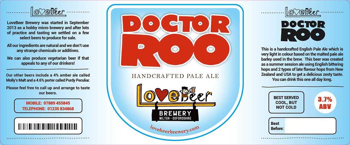 Doctor Roo beer label