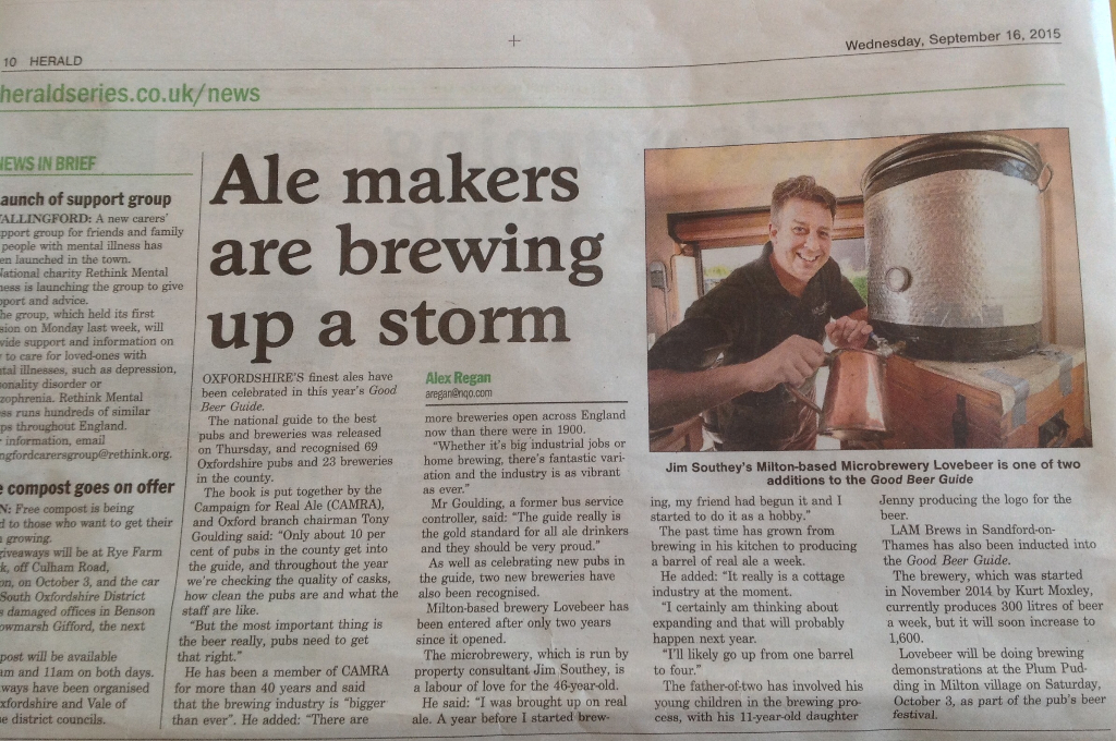 Herald newspaper - ale makers are brewing up a storm