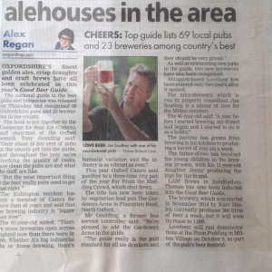 Oxford Mail - raise a glass to the finest alehouses in the area