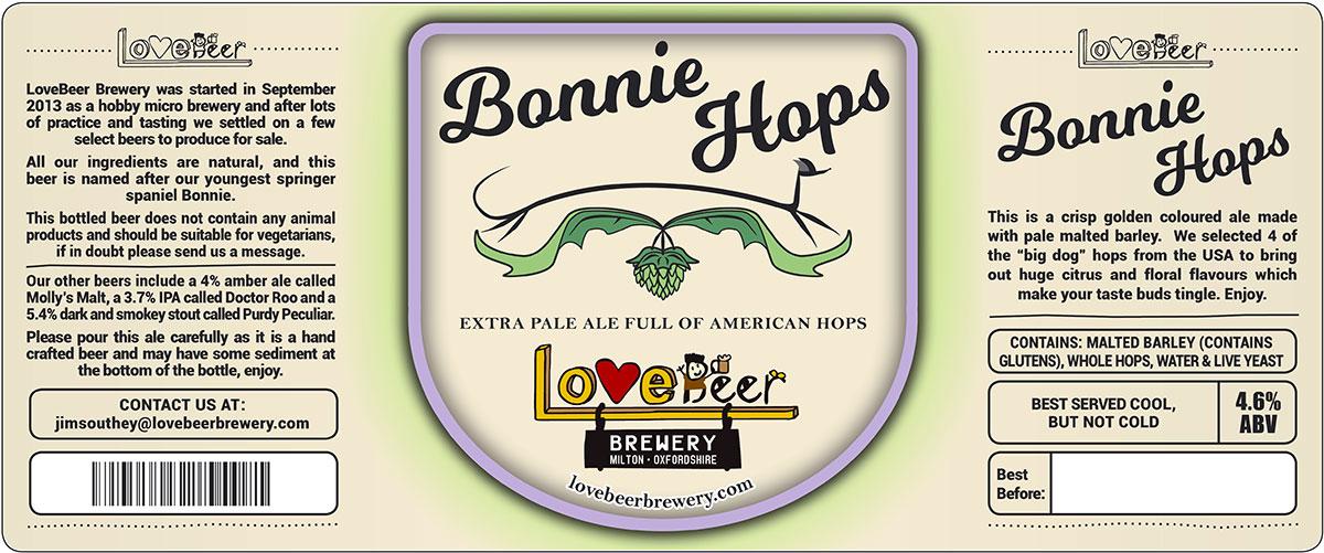 Bonnie Hops beer label